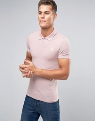 Asos Muscle Pique Polo Shirt In Pink Marl With Logo Old Rose