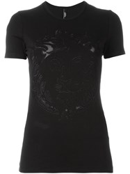 Versus Embroidered Lion T Shirt Black