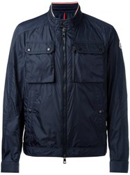 Moncler Multi Pocket Sport Jacket Blue