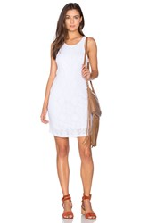 Monrow Stretch Tank Dress White