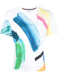 Paul Smith Ps By Paint Stroke T Shirt White