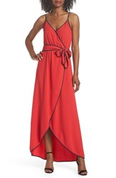 Felicity And Coco Becca Faux Wrap Maxi Dress Red
