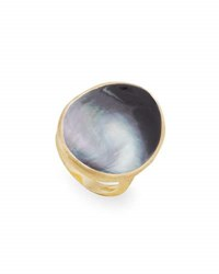 Marco Bicego Lunaria Large Cocktail Ring With Black Mother Of Pearl