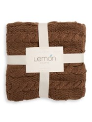 Lemon Cable Knit Blanket Natural