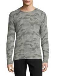 Strellson Neel Cotton Blend Sweater Silver Camo