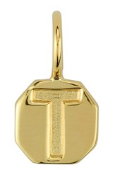 Women's Baroni Stamped Initial Charm Gold T