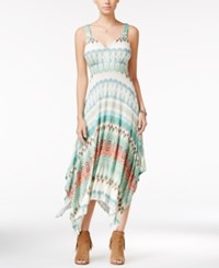 American Rag Juniors' Printed Handkerchief Hem Maxi Dress Only At Macy's Blue Multi