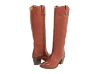 Frye Jackie Button Cognac Soft Vintage Leather Women's Dress Pull On Boots Brown