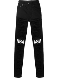 Hood By Air Ripped Skinny Jeans Black