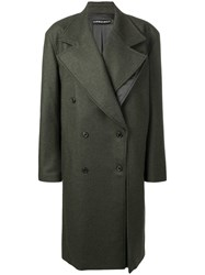 Y Project Oversized Double Breasted Coat Green