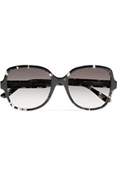 Bottega Veneta Round Frame Acetate Sunglasses Gray