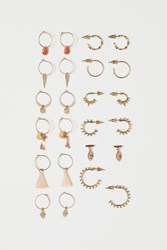 Handm H M 12 Pairs Earrings Gold