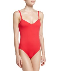 Seafolly Goddess V Neck One Piece Swimsuit Chilli Red