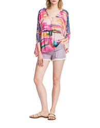 Plenty By Tracy Reese Striped Dolman Tunic Pink