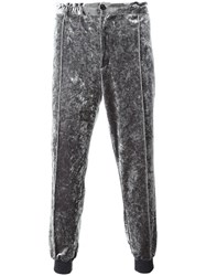 Emiliano Rinaldi Elasticated Buttoned Track Pants Grey