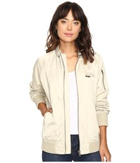 Members Only Washed Satin Ex Boyfriend Jacket Bone Women's Coat