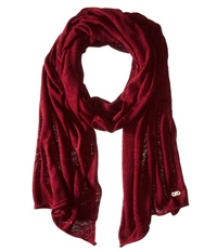 Cole Haan Feather Weight Jersey Oversized Scarf Zinfandel Scarves Brown