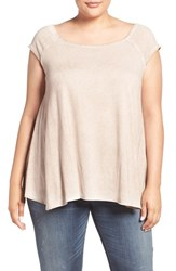 Dantelle Plus Size Women's Square Neck Swing Tee Moonrock