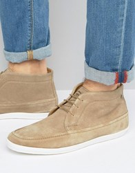 Base London Venue Suede Chukka Boots Beige