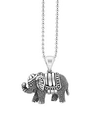 Lagos Rare Wonders Elephant Pendant Necklace 34 Silver