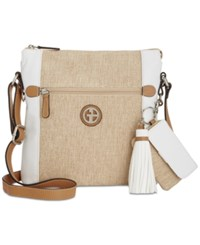 Giani Bernini Contrast Crossbody Only At Macy's White Natural