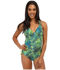 Lole Madeira One Piece Spring Tropical Women's Swimsuits One Piece Green