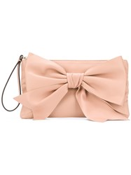 Red Valentino V Bow Front Clutch Neutrals