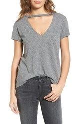 Pam And Gela Women's Cutout V Neck Tee