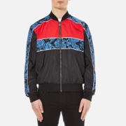 Msgm Men's Patterned Bomber Jacket Multi