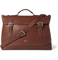 Mulberry Full Grain Leather Messenger Bag Brown