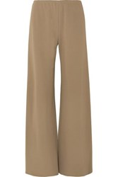 The Row Gala Stretch Cady Wide Leg Pants Army Green