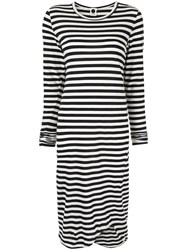 Bassike Striped Jersey Dress Black