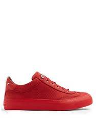 Jimmy Choo Ace Perforated Effect Low Top Nubuck Trainers Red