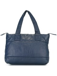 Chanel Vintage Branded Panelled Tote Bag Blue