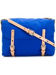 Ally Capellino Double Buckle Crossbody Bag Blue