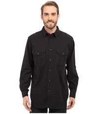 Filson Extra Long Alaskan Guide Shirt Navy Men's Long Sleeve Button Up