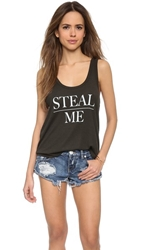 Wildfox Couture Steal Me Tank Top Vintage Black