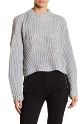 Gracia Turtleneck Cropped Sweater Gray