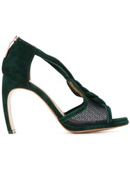 Ginger And Smart Braided Strap Sandals Green