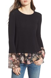 Bailey 44 Love Story Layered Look Sweater Black