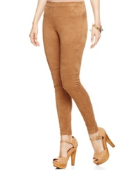 Hue Ultra Suede Leggings Camel