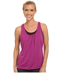 Prana Mika Top Black Plum Women's Sleeveless Purple
