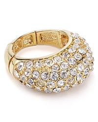 T Tahari Crystal Pave Stretch Ring Gold