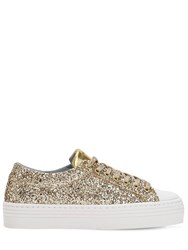 Chiara Ferragni 40Mm Flirting Eye Glittered Sneakers Gold