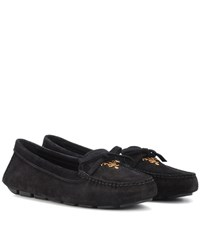 Prada Suede Loafers Black