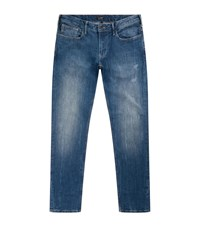 Armani Jeans Slightly Distressed Male Blue