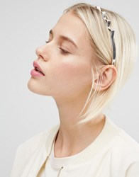 Monki Zig Zag Metal Headband Silver