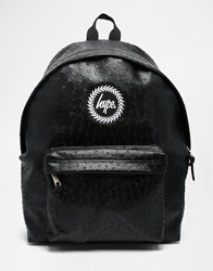 Hype Ostrich Effect Backpack Black