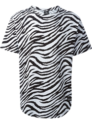 Les Artists Les Art Ists 'Jacobs 63' Zebra Print T Shirt Black