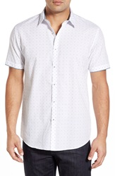 Zagiri 'Cars' Modern Fit Short Sleeve Sport Shirt White